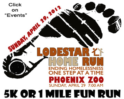 Lodestar Home Run to End Homelessness Event Logo